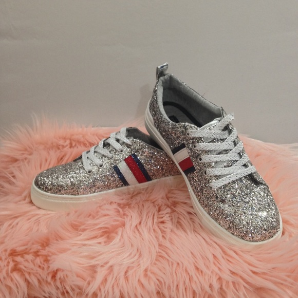 Glittery Silver Tommy Hilfiger Shoes